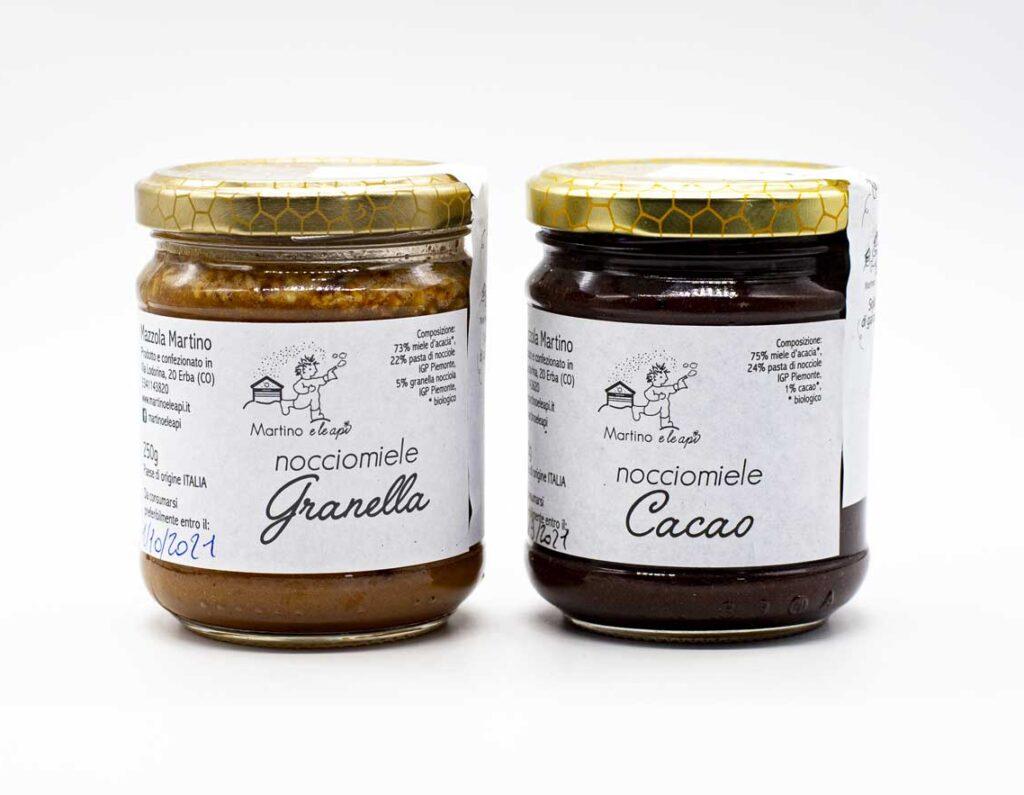 Nocciomiele Cacao e Granella Martino e le Api
